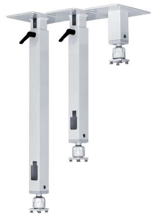 PeTa Deckenhalterung Standard mit Klemmhebel, variable Länge 15 - 20cm