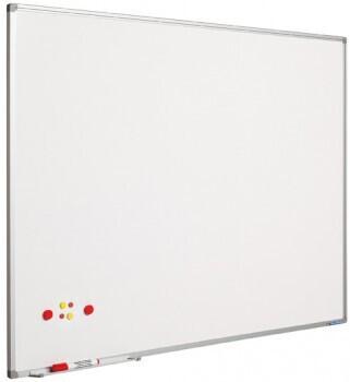SMIT Visual Weißwandtafel Softline aluProf 8mm lackierter Stahl 90x120cm