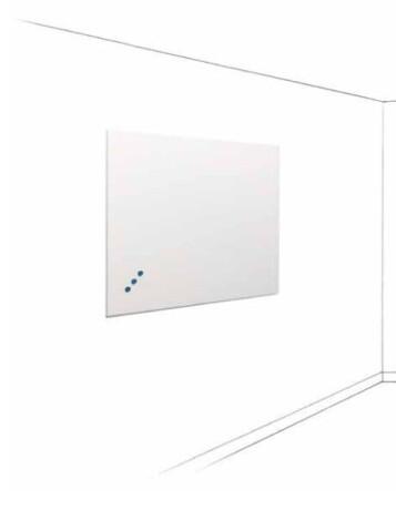 SMIT Visual Weißwandtafel Frameless, Ohne Profil emailstahl 60 x 90 cm, weiß