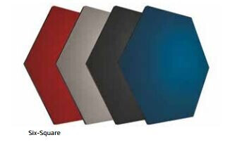 Smit Visual Shapes Pin Panel bulletin, Six-Square, rot 1 Stück