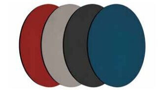 Smit Visual Shapes Pin Panel bulletin, Round, orange 3 Stück