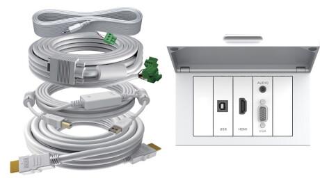 VISION TechConnect 3 2-Gang Tilt Surround - Frontabdeckung, 3m