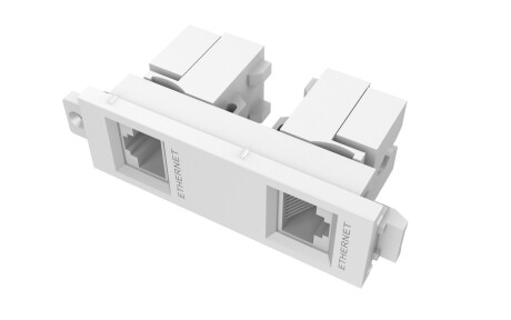VISION TechConnect 3 Twin RJ45 module - modulares Faceplate-Snap-In