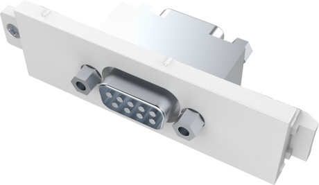 VISION TechConnect 3 Serial Male module - modulares Faceplate-Snap-In