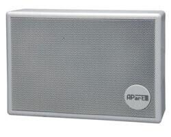 """APart SMB6V-W 5"""" Gehäuselautsprecher 100 V mit Halterung und Lautstärkeregler weiß"""