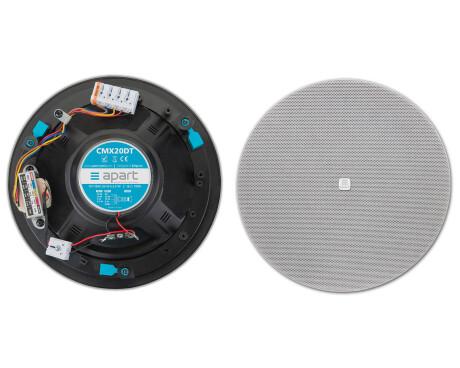 """Apart CMX20DT 8"""" 100V 2-Wege Design-Einbaulautsprecher, weiß"""