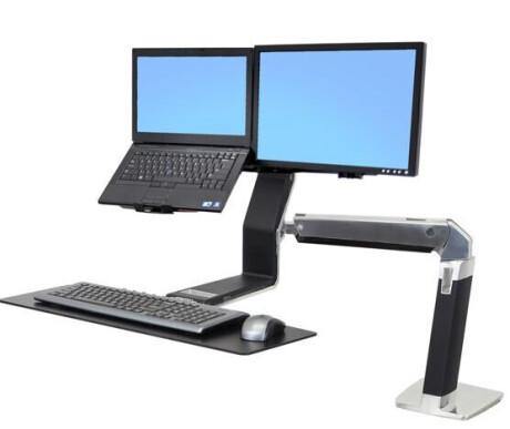 Ergotron Halterung WorkFit-A Combo für LCD und Laptop