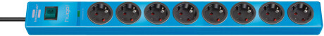 Brennenstuhl hugo! 19.500 A Überspannungsschutz-Steckdosenleiste 8-fach blau