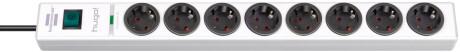 Brennenstuhl hugo! 19.500 A Überspannungsschutz-Steckdosenleiste 8-fach weiß