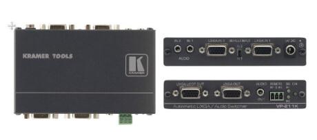 Kramer VP-211K 2:1 Automatik-Umschalter für UXGA und Stereo-Audio