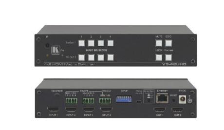 Kramer VS-42UHD 4x2 4K60 4:2:0 HDMI Automatic Matrix Switcher