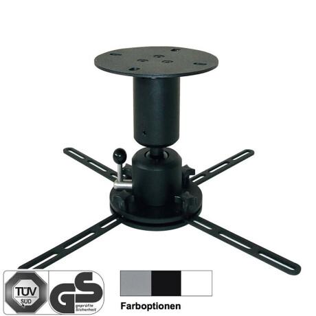 DELUXX Deckenhalter Profi-Line 15 cm silber