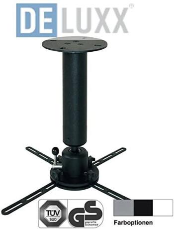 DELUXX Deckenhalter Profi-Line 30 cm schwarz