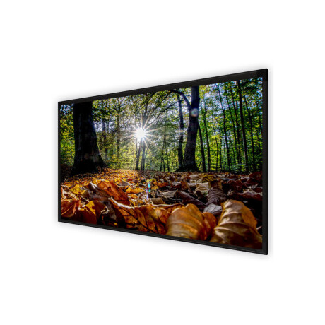 DELUXX Cinema Rahmenleinwand Frame Elegance 16:9 Mattweiss Varico Diamond 169 x 95 cm