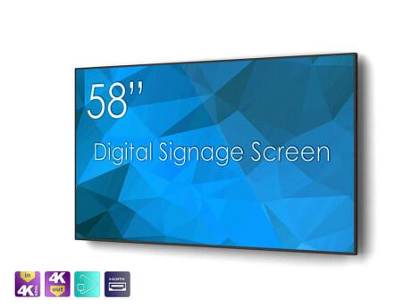 "SWEDX 58"" DigitalSignage Screen / nat 4K"