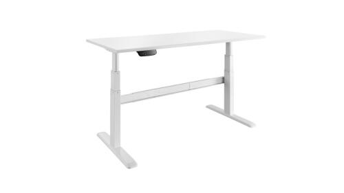 celexon Schreibtisch Professional eAdjust-65120W - weiß, inkl. HPL Tischplatte 150 x 75 cm