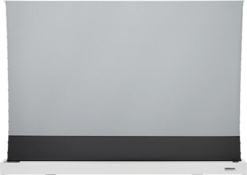 """celexon CLR HomeCinema UST elektrische Boden-Hochkontrastleinwand 100"""", 221 x 124cm - weiß"""