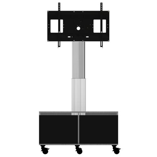 celexon Expert elektrisch höhenverstellbarer Display-Rollwagen Adjust-4286MS mit Schrank und Anschlu