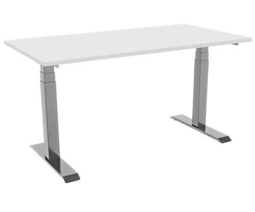 celexon elektrisch höhenverstellbarer Schreibtisch Professional eAdjust-58123 - grau, inkl. Tischpla