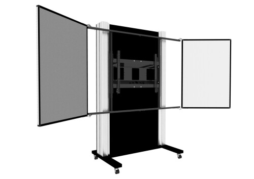 celexon Expert manuell mobiles 2-Säulen-Pylonensystem Adjust-6586M mit Flügeln