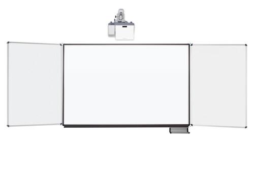 celexon Whiteboard Projektions-Schreibtafel Expert 207 x 130 cm mit Flügeln PEN