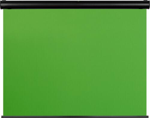 celexon Motor Chroma Key Green Screen 300 x 225 cm - idealer großer Hintergrund für hochwertigen Vid