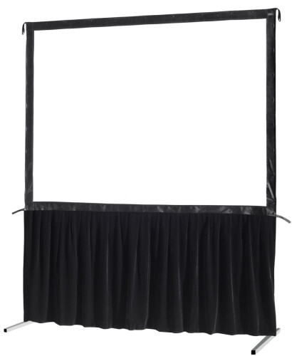 celexon Vorhangset 1-seitig für Faltrahmenleinwand Mobil Expert 244 x 183 cm