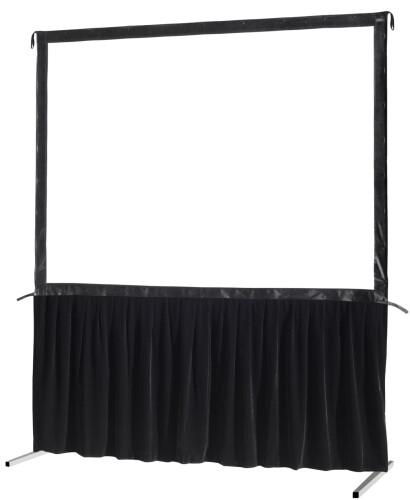 celexon Vorhangset 1-seitig für Faltrahmenleinwand Mobil Expert 244 x 152 cm
