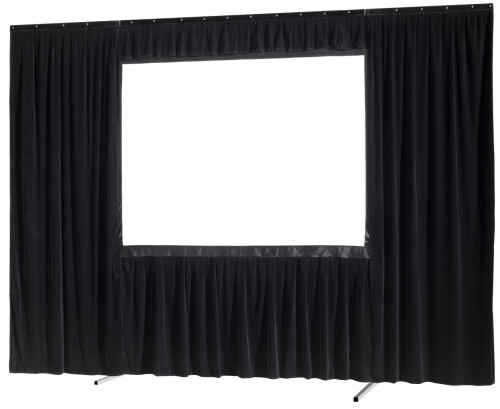 celexon Vorhangset 4-seitig für Faltrahmenleinwand Mobil Expert 244 x 183 cm