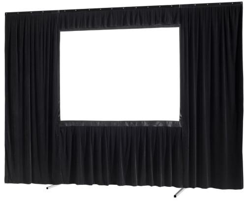 celexon Vorhangset 4-seitig für Faltrahmenleinwand Mobil Expert 203 x 114 cm